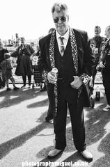 Teddy Boy, Ace Cafe, Brighton, England, UK (photographymiguel) Tags: acecafe man leather alone badges motorbiker moto rock brighton beer pint suit foster shades rocknroll teddyboy teds edwardian