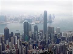 Hong Kong Central Towers 20180223_131950 DSCN3646 (CanadaGood) Tags: asia china hongkong mountain mist building architecture sea harbour southchinasea canadagood 2018 thisdecade color colour hongkongisland best