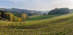 Czech-Polish Borderlands (Zbynek Stoklasa) Tags: czech poland autumn landscape panorama colors colorful sky tree grass europe czechrepublic hills