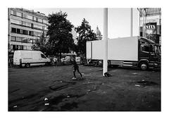 161015_b_00010_OM2n-ilford-delta-400_antwerpen_theaterplein 5/8 (A Is To B As B Is To C) Tags: aistobasbistoc b belgië belgium antwerpen antwerp theaterplein vogelenmarkt olympus om2n analog film ilford delta 400asa bw blackwhite blackandwhite monochrome markt market canopy architecture secchivigano urban urbanrenewal urbanism city cityscape citylife skater people boy skating truck trucks van dirty afval trash