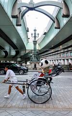 Nihonbashi Panda (sapphire_rouge) Tags: 東京 日本橋 tokyo nihonbashi ukiyoe beast 広重 hiroshige 麒麟 kirin