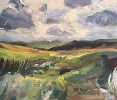 Moorland view (Captain Wakefield) Tags: yorkshire dales moorland moor field nature acrylic art landscape artist burton samuel painting