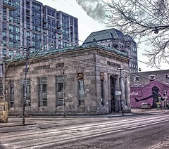 Toronto's architectural gems—the bank at Queen West and Simcoe Streets  - Toronto Ontario - Canada - (Onasill ~ Bill Badzo - 56 Million Views - Thank Yo) Tags: cibc canadian imperial bank commerce simcoe queen st west vintage old photo rich architecture style classical doric columns design greek temple 1930 depression facade hdr ipod limestone safe onasill heritage historic 190