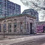 Toronto's architectural gems—the bank at Queen West and Simcoe Streets  - Toronto Ontario - Canada - thumbnail