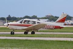 N3008U - 1979 build Piper PA-28-181 Cherokee Archer II, shortly after arrival at Oshkosh during Airventure 2018 (egcc) Tags: 287990333 airventure airventure2018 archer cherokee eaa kosh lightroom n3008u napervilleflyingclub osh oshkosh pa28 pa28181 piper