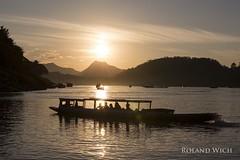 Luang Prabang (Rolandito.) Tags: south east südost asia asien laos luang prabang sunset mekong river