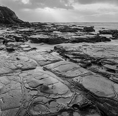 Wye River Beach Early Morning 10 (1 of 1) (Chris Reus-Smit) Tags: beach sea rocks ocean surf hasselblad 503cx 50mm trix400 kodak film bw wyeriver greatoceanroad victoria australia