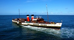 PS Waverley (Peter.S.Roberts) Tags: interesting pswaverley waverley paddlesteamer historic llandudnotoliverpoolexcursion llandudno irishsea blue seascape bluesky summer outdoor waves bluesea masts funnels decks crew people souls passengers waterwheels paddles windows portholes flags wales cymru bridge captain shipscrew motion movement afternoonevening cruise 29082018 reflections ripples lifeboats ship boat vessel historical rigging opensea deepbluesea openwater