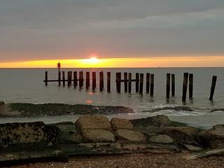 Sunrise from Lowestoft Suffolk uk today