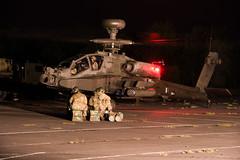 Night take off (David Blandford photography) Tags: apache gunship night farp army air corps