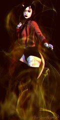 Horns (Vinore Raven-Owle) Tags: vinore raven owle maitreya catwa catya vtech olive aii addams reign song songinspired {s0ng} interpretation dancing devil demon fire boots astralia horns plastik