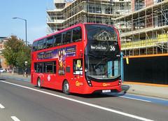 GAL EH195 - YY67USS - QUEEN'S ROAD PECKHAM - THUR 6TH SEPT 2018 (Bexleybus) Tags: goahead go ahead london queens road peckham south east tfl route 36 adl dennis enviro 400 mmc hybrid eh195 yy67uss