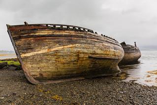 Derelict Boats at Salen