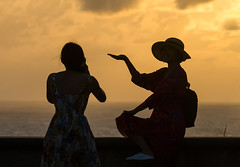 XOKA8704b (Phuketian.S) Tags: people silhouette sunset sea sky plam tree beauty girl woman peoples street road water andamansea indianocean nature evening babe cloud landscape