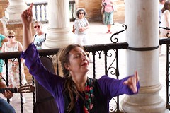 flamenco en la plaza de Espana (Val in Sydney) Tags: de espagne espana spain sevilla seville
