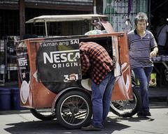 3 in 1 (Beegee49) Tags: street man delivery coffee nescafe 3 1 3in1 bacolod city philippines