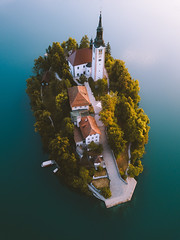 Bled from above. (Bokehm0n) Tags: landscape nature vsco explore flickr earth travel folk 500px castle citadel belfry fortress palace romanesque cathedral bled slovenia summer outdoors manor