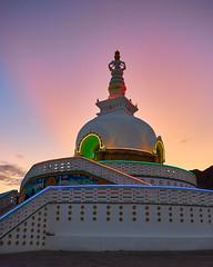 Shanti Stupa (Whitney Goodey) Tags: himalayas temple buddhism sunset sky leh jammuandkashmir india