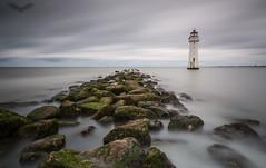 Perch Rock Lighthouse (Andy Davis Photography) Tags: perchrocklighthouse lighthouse waves tide wirral sea rocks canon ocean water sky bay landscape hightide longexposure bigstopper leefilters