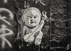 PEACE COMES FROM WITHIN (Corbicus Maximus) Tags: nikon d7200 18140mm southsea porstmouth streetart street art graffiti southseaghetto ripartist buddha peace stencil