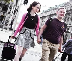 All smiles, Dublin (Sean Hartwell Photography) Tags: couple girl boy smile smiling lovedup happy love boyfriend girlfriend station street candid dublin oconnellstreet ireland irish