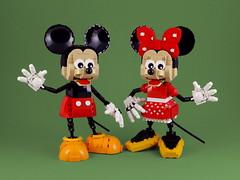 Mickey & Minnie (Swan Dutchman) Tags: lego disney waltdisney mickey minnie mouse figure character