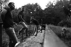 •Life on the bridge• (Alexander Kotlyarov) Tags: monodramatic bnw amateursbnw bnwplanet bnwcreatives bnwdemand bwsociety blacknwhiteperfection bnwrose bnwdrama bnwlegit bnwgreatshots gomelnow gomelinsta gomeltut vgomele gomeltoday citygomel photography portrait contemporaryart conceptual people trees man bridge canonphotography