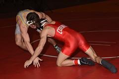 Trent Olson vs Michael Russo 0498 (Chris Hunkeler) Tags: trentolson wyoming michaelrusso cornell 125 bout561 2017 cklv amateur college wrestling wrestlers