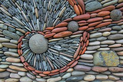 Stone Stream (David K. Edwards) Tags: stone wall decoration victoria britishcolumbia canada rock river