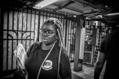 Going Your Way. (rockerlan) Tags: mta going your way ricoh grii new york underground subway candid photo photography passing by nyc manhattan black white