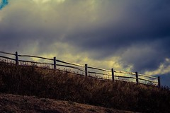 Silvery glow (jmiller35) Tags: clouds weather england canon fence light storm countryside rural stormclouds