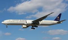 HZ-AK36 Boeing 777-3FGER Saudia (R.K.C. Photography) Tags: hzak36 boeing 7773fger b777 saudia saudiarabia aircraft aviation airliner heathrow myrtleavenue london england unitedkingdom uk londonheathrowairport lhr egll canoneos100d