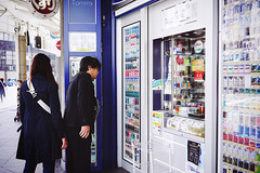 Tobacco shoppers (Eric Flexyourhead) Tags: juso 十三 yodogawaku 淀川区 osaka osakashi 大阪市 kansai 関西地方 japan 日本 city urban street streetscene streetscape streetphotography shop store tobacco tabako cigarette cigarettes たばこ sonyalphaa7 zeisssonnartfe35mmf28za zeiss 35mmf28