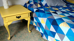 Completed Repainted Yellow Nightstands (osiristhe) Tags: cellphone painting furniture decor