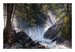 Lenk Iffigbach (Krzysztof Mikulski) Tags: lenk im simmental valley forest woodland pine tree river waterfall water stream sun rise fog misty morning iffigbach national park sony a7r mk2 ii panorama panoramic sigma 100 400 mm