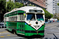 San Francisco Municipal Railway, September 2014 (David Rostance) Tags: 1062 muni streetcar pcc tram sanfrancisco fline marketstreetrailway