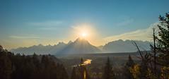 Grand Teton Sun (CD_MT) Tags: 1424mm cdmt d4 grandteton grandtetonnationalpark nationalpark nikkor nikon nikond4 snakeriver tetons wyoming bluesky landscape mountains smokey sun sunset
