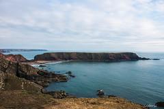 Pembrokeshire Outcrop (Safarii) Tags: pembrokeshire pembrokeshirenationalpark wales cymru coast coastpath water bay ocean sea seascape landscape beach sand summer