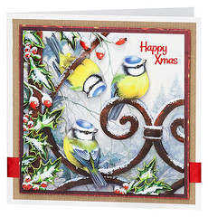 Craft Creations - Charlotte440 (Craft Creations Ltd) Tags: bluetits holly christmascard greetingcard craftcreations handmade cardmaking cards craft papercraft