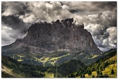 "Sassolungo (""Deca"") Tags: dolomiti dolomites sassolungo montagna mountain estate summer agosto august nuvole clouds"