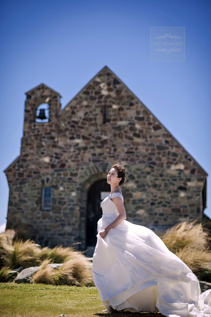 海外婚紗攝影,紐西蘭(新西蘭)NEW ZEALAND,蒂卡波湖畔牧羊人教堂,婚紗旅拍