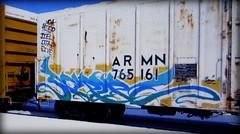 (timetomakethepasta) Tags: script ki freight train graffiti art armn reefer union pacific voa hier jiel djae save