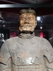 Soldier of the Terracotta Army ... (Thierry GASSELIN) Tags: statue china chine soldat soldier terracotta glaise