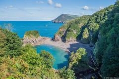 Devon's Greek beach (sidranawaz) Tags: beach devon exmoor exmoornationalpark cliffs blue sea coast travel britain england broadsands broadsandsbeach