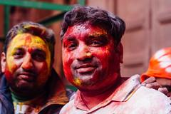 Man in Gulal in Shri Banke Bihari Mandir (AdamCohn) Tags: abeer adamcohn bankebiharimandir hindu india shribankeybiharimandir vrindavan gulal holi pilgrim pilgrimage portrait अबीर गुलाल होली