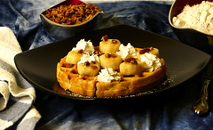 Maple Brown Butter Bourbon Glazed Waffles With Roasted Pecans, Bananas And Whipped Cream. (Eat With Your Eyez) Tags: maple brown butter bourbon glaze roasted salted pecans waffle breakfast food morning flour eggs foodporn delicious eat panasonic fz1000