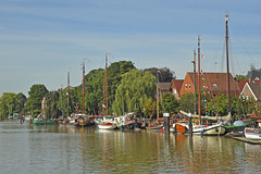 Moorings for traditional ships in the old harbour of Leer (East Frisia) (Manfred_H.) Tags: vehicles wasserfahrzeuge ships schiffe watervehicles boats historic museumshafen leer eastfrisia eastfriesland ostfriesland