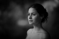 The Way she Viewed (fehlfarben_bine) Tags: nikondf nikon850mmf14 portrait woman closeup naturallight gaze grace expression monochrome forest