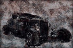 32 Chevy Pick-Up Rat Rod. Edited in Photoshop. (kmac1960) Tags: ratrod 32chevypickup vintage hotrods textured photoshop canon digitalart