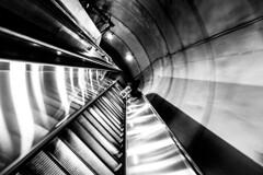 enter the void (Beau Finley) Tags: beaufinley escalator metro wmata clevelandpark washingtondc districtofcolumbia monochrome subway brutalist dc